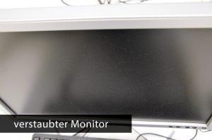 Ein Bild von einem verstaubten Monitor